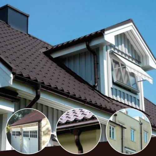 Rainline Coffee Brown Gutters