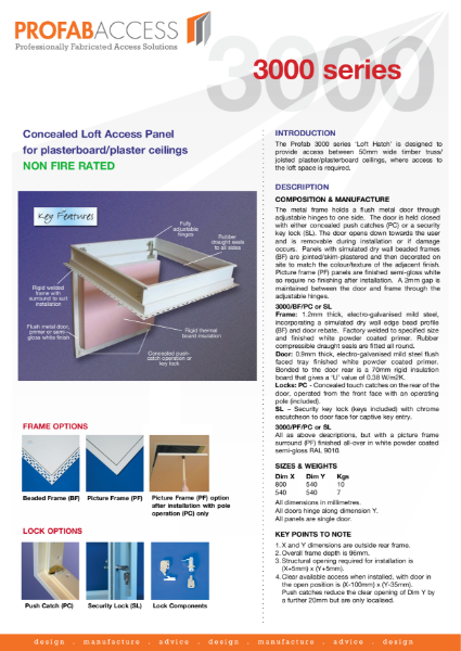Profab 3000 Series Loft Hatch