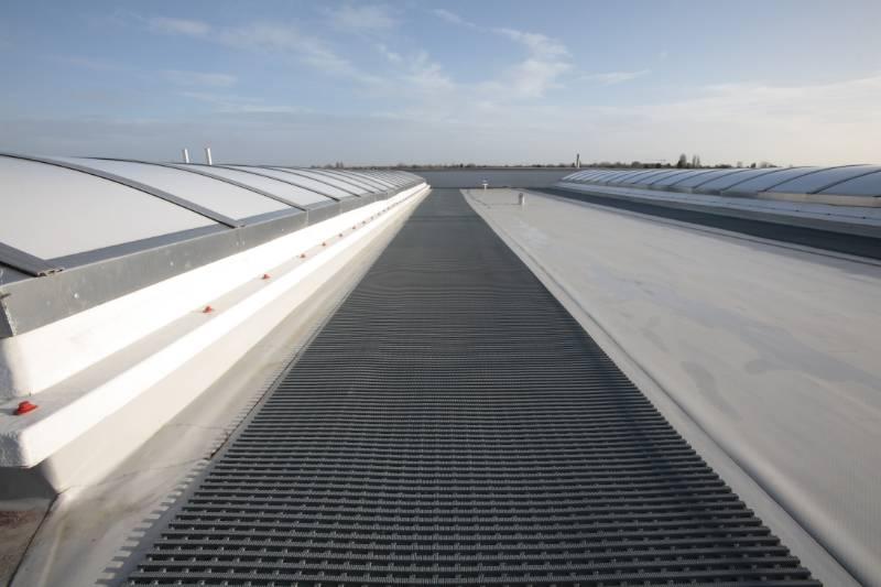 Crossgrip PVC ensures safe rooftop acccess