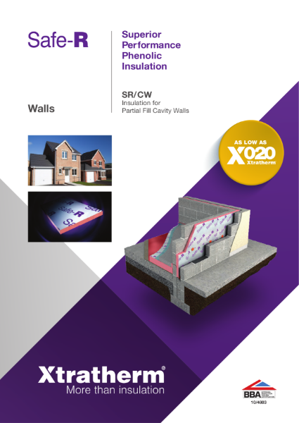 Insulation for Partial Fill Cavity Walls (SR/CW)