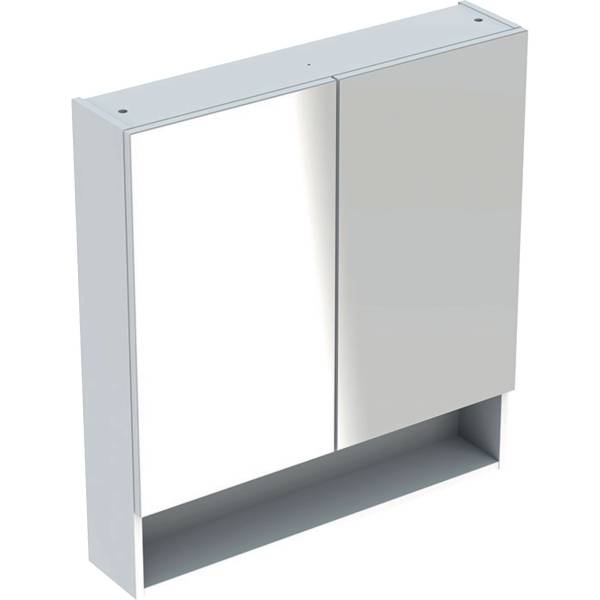 Selnova Square mirror cabinet with two doors