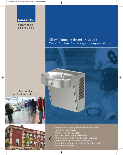 Vandal Resistant Drinking Fountains