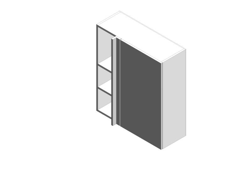 Gallery Corner Wall Cabinets - Tall