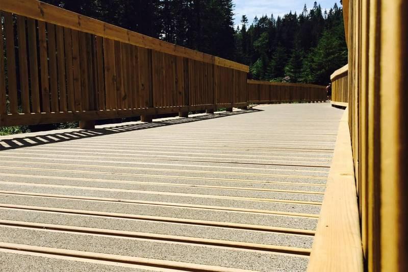 Non-Slip Decking - Center Parcs Boardwalk