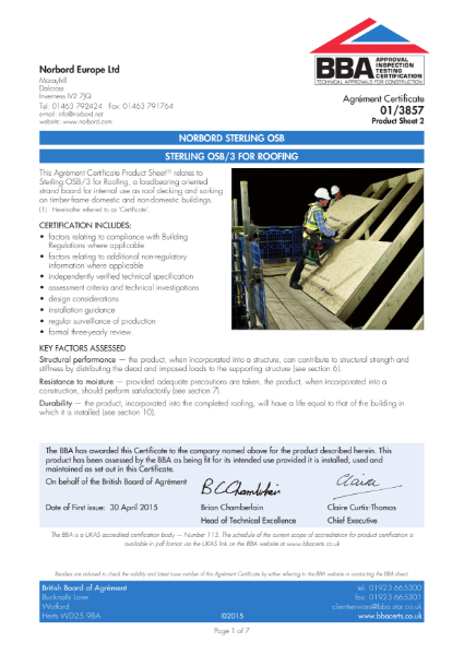STERLING OSB/3 FOR ROOFING Part 2