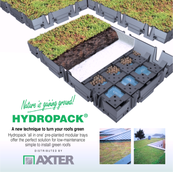 HYDROPACK pre-planted modular green roof system