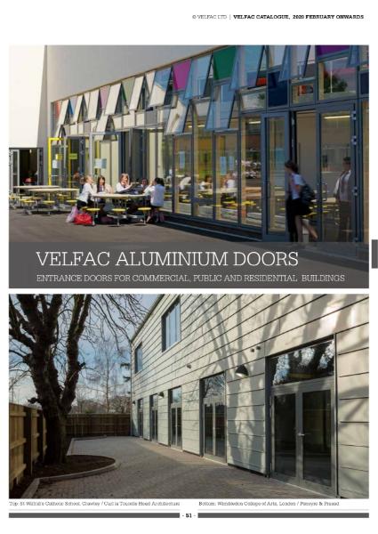 VELFAC Aluminium door Product catalogue