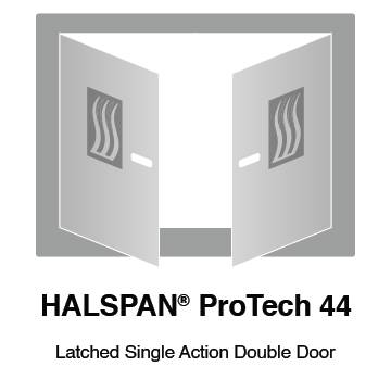 HALSPAN® ProTech 44m Interior Grade Door Blanks - Latched Single Acting Double Doors