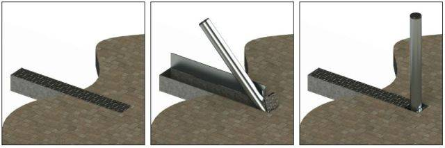 ASF 650 Folding Bollard - trough system