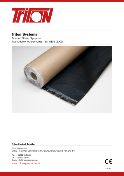 Structural Waterproofing Type A (bonded sheet systems) Data Pack