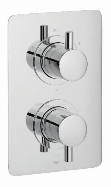 Celsius DX 3 Outlet 2 Handle Thermostatic Valve