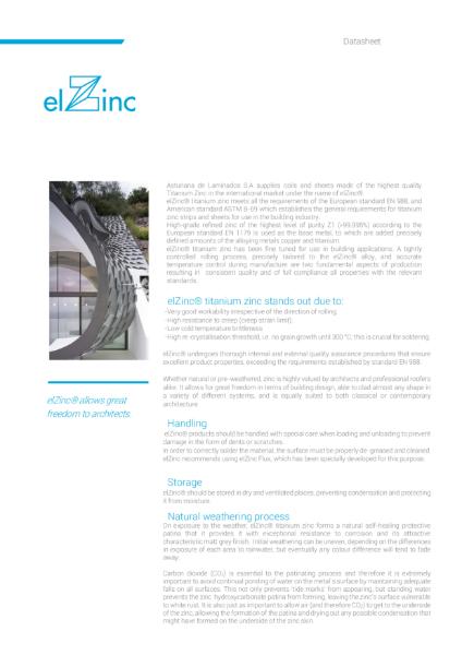 elZinc zinc Datasheet