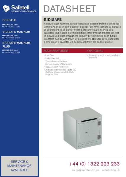BidiSafe - Cash Recycling Unit