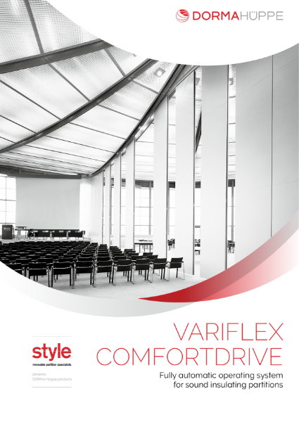 Variflex Comfortdrive - fully automatic sliding moveable wall system