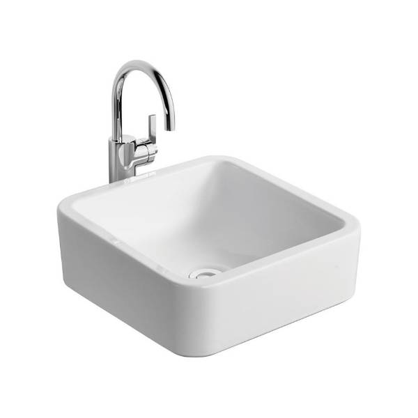 White Cube 40 cm Vessel Washbasin