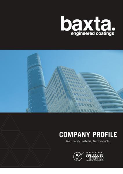 Company Profile - Baxta