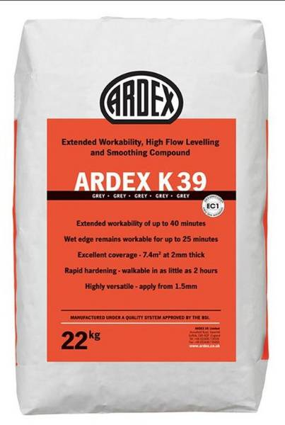ARDEX K 39 Heavy Duty Levelling Compound