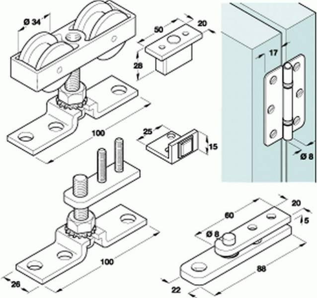 HAWA-Bifold 30 Top Hung Folding Door Fittings