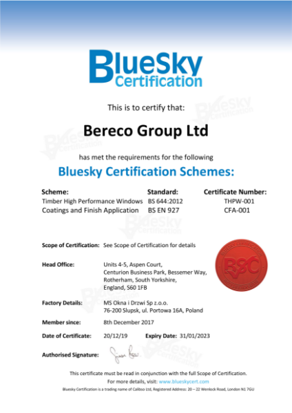 Coatings & Finish Application Certificate