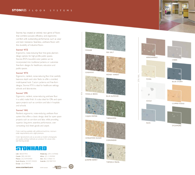 Stonres Resin Flooring Colour Chart