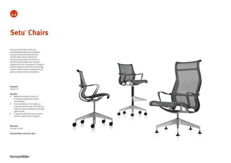 Setu Chair - Product Sheet