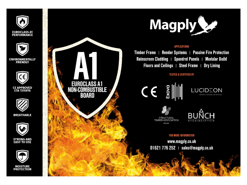 Magply Non-Combustible Board Applications