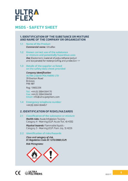 Ultraflex - MSDS Safety Sheet