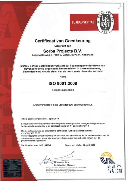 Sorba ISO 9001