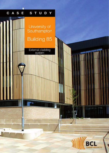 Southampton University - External Timber Cladding