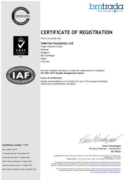 ISO 9001 - Siderise Insulation