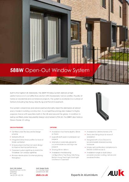 AluK 58BW Window System Open Out Datasheet