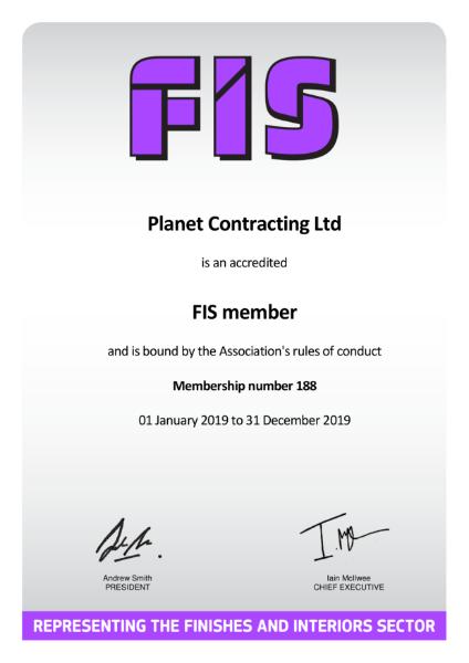 FIS Certificate Exp 31 12 19