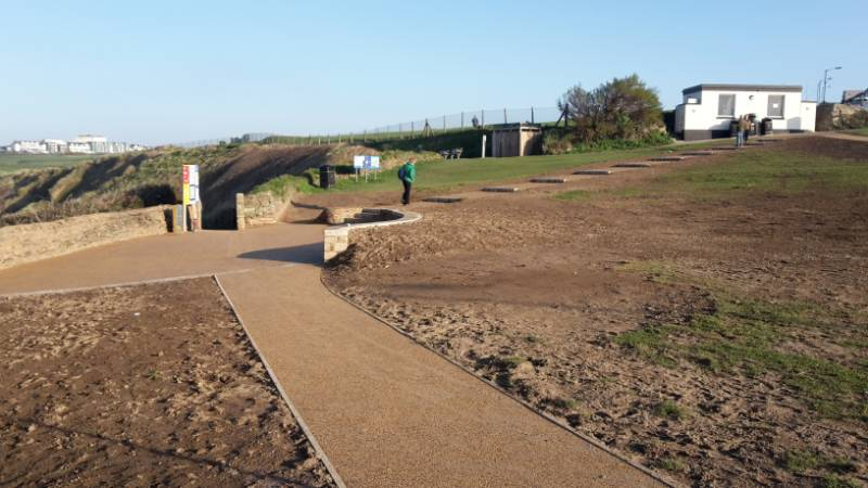 Permeable pathway for Pentire Point, Newquay