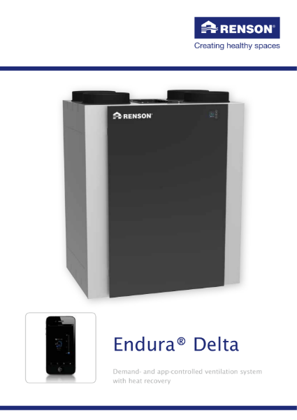 Endura Delta: Demand controlled ventilation system with heat recovery