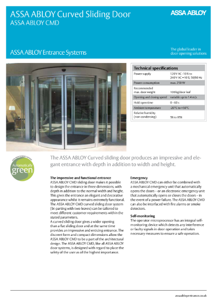 Automatic Curved Sliding Door CMD