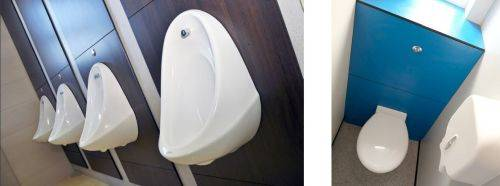 Wall Panel Systems for Washrooms (HPL)