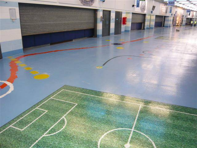 Sherwin-Williams non-slip flooring solution provides a premier solution for Manchester City Football Club's Etihad Stadium