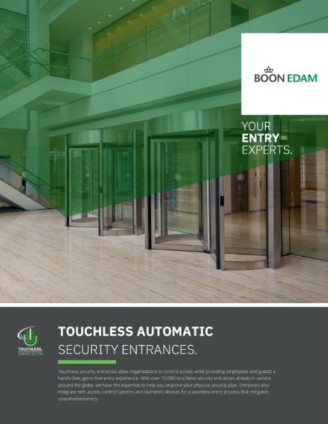 Touchless - automatic security entrances
