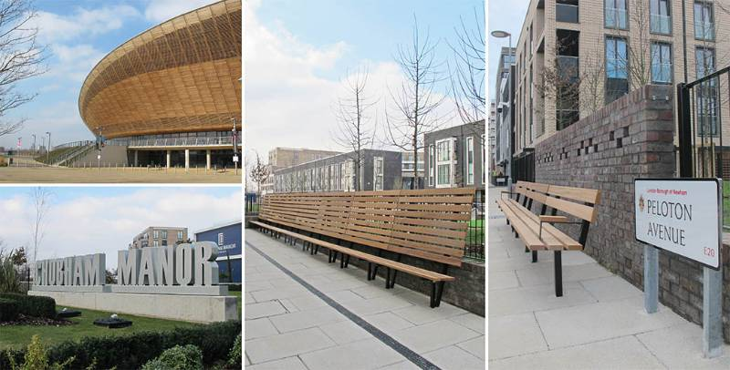 New seating for neighbourhood at Queen Elizabeth Olympic Park