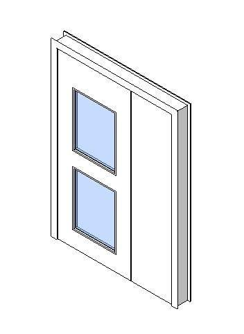 Internal Uneven Door, Vision Panel Style VP05