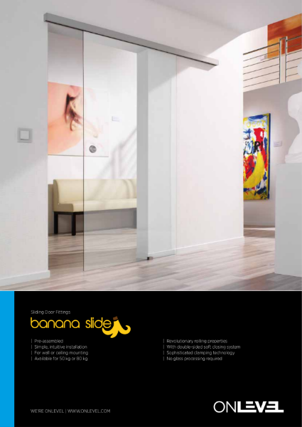OnLevel Banana Slide- Glass Door Systems