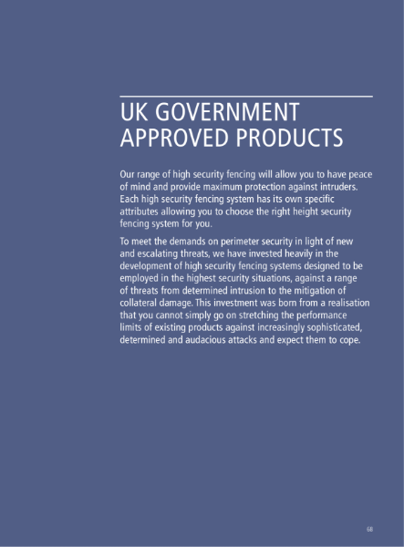 High Security UK Government Approved Fencing
