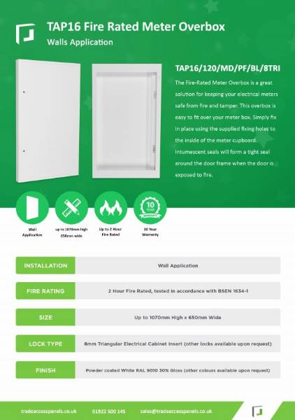 New Product  - Fire Rated Overbox
