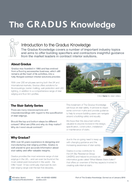 The Gradus Knowledge - Stair Safety Series