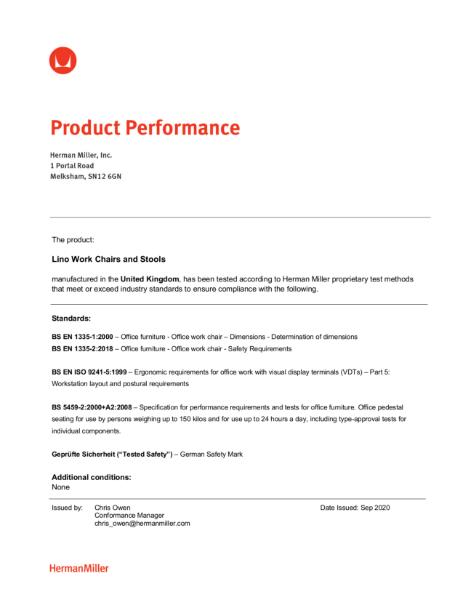 Lino Certifications