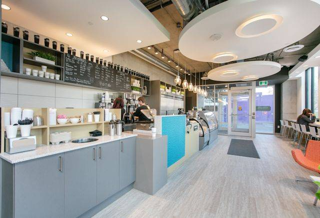 Expona installed at Envie student coffee shop