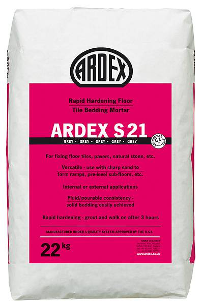 ARDEX S 21 Rapid Hardening Floor Tile Bedding Mortar