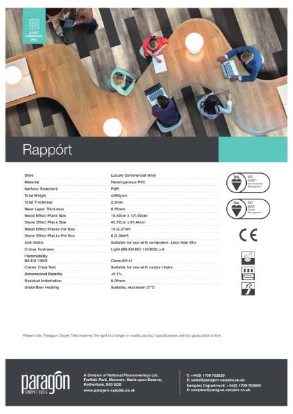 Paragon Carpet Tiles - Rapport - Specification Information