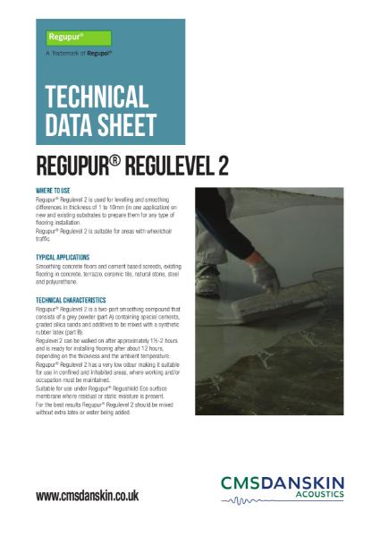 CMS Danskin Acoustics Regupur Regulevel 2 TDS