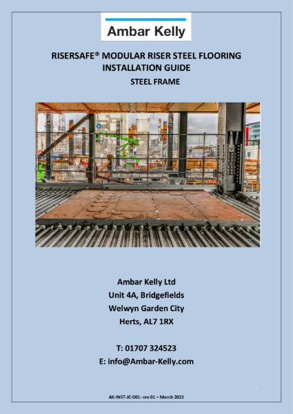 RiserSafe Modular Riser Steel Flooring - Installation Guide - Steel Frame